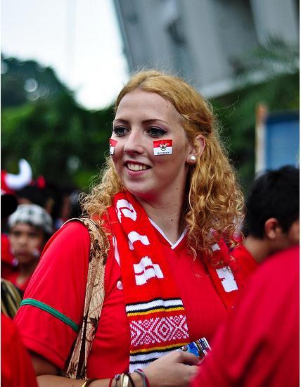 Suporter Wanita Timnas Indonesia Yang Cantik2 ! | Kutalkutil