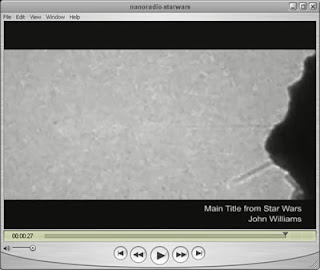 QuickTime video was recorded on the nanotube radio using a Transmission Electron Microscope.