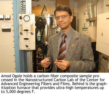Clemson University chemical engineering professor Amod Ogale
