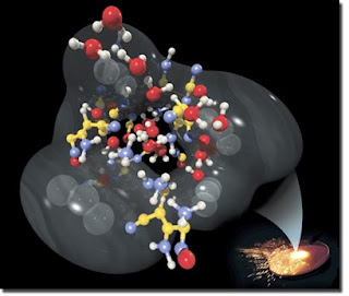 rapid chemical reactions in an energetic material.