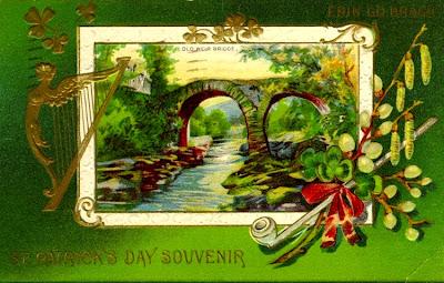 St. Patrick's Day  Souvenir. Postcard