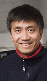 Chang Liu, a Willett Scholar and a professor of electrical and computer engineering, and colleagues have fabricated the world's smallest chain-mail fabric. Photo by L. Brian Stauffer