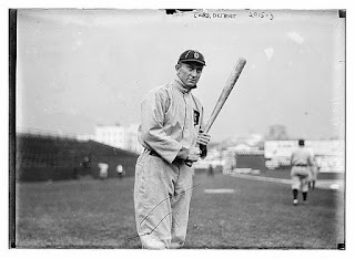 Ty Cobb, Detroit, AL, Credit Line: Library of Congress, Prints & Photographs Division, [reproduction number, LC-DIG-ggbain-08006]