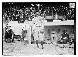 Ty Cobb, Detroit AL , Credit Line: Library of Congress, Prints & Photographs Division, [reproduction number, LC-DIG-ggbain-13533]