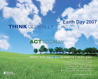Earth Day Think Globally...Act Locally, Energy Efficiency and Renewable Energy (EERE)