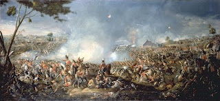 Battle of Waterloo painted by William Sadler