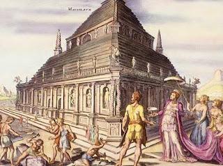 Seven Wonders of the World Mausoleum of Halicarnassus, by Marten Heemskerk (1498–1574)