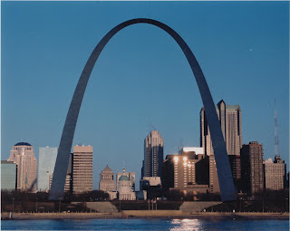 St. Louis Gateway Arch from East St. Louis January 2002, National Park Service
