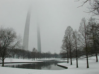 St. Louis Gateway Arch in winter. National Park Service