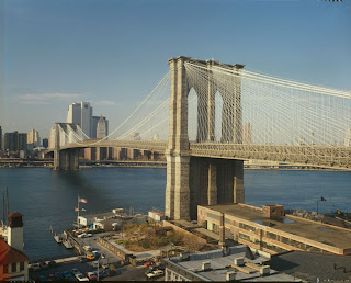 Brooklyn Bridge, VIEW LOOKING NORTH WITH FORMER BROOKLYN FERRY SLIP IN FOREGROUND ny79