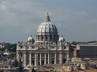 St. Peter's Basilica in Rome seen from the roof of Castel Sant'Angelo