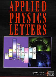 cover of Applied Physics Letters.
