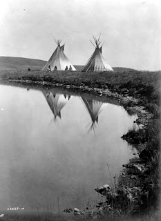 Native American Heritage Month Two Tepees, Library of Congress, Prints & Photographs Division, Edward S. Curtis Collection, [reproduction number, e.g., LC-USZ62-123456]
