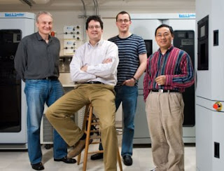 Physicists Krzysztof Kempa, Michael Naughton, Jakub Rybczynski and Zhifeng Ren.