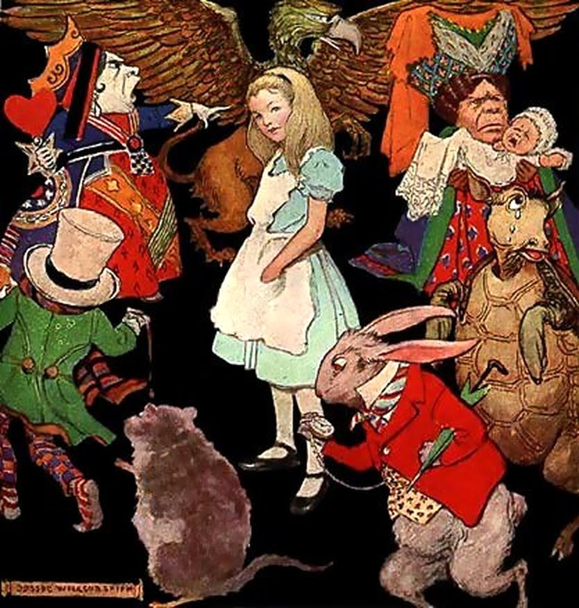 Alice in Wonderland Characters Clip Art