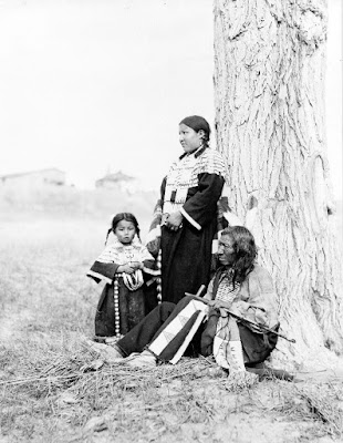 Native American Father and Family