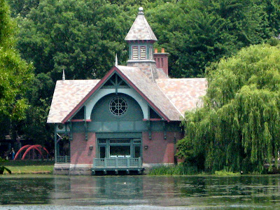 Harlem Meer in Central Park, New York City