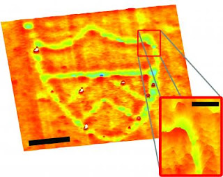 nano-scale patterns on uneven surfaces