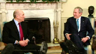 President Bush Meets with Prime Minister Olmert of Israel VIDEO