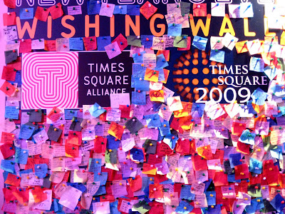 Wishing Wall New Year Times Square