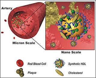 synthetic HDL, based upon gold nanoparticle scaffolds