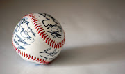 Description: Minnesota Twins's baseball ball.jpg. Baseball sign by the team .