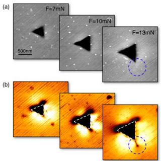 Infrared visualization of nanocrack evolution