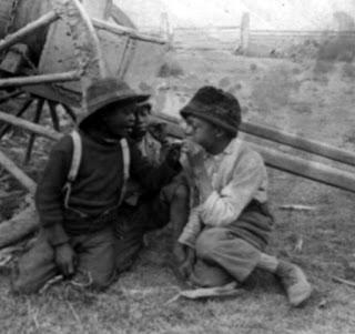 African American boys smoking