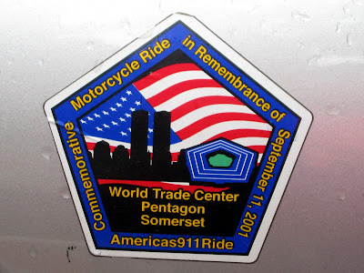 Public Domain Clip Art: America's 911 Ride Bumper Sticker