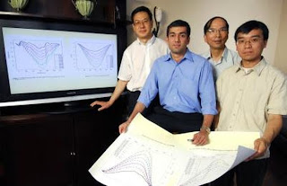 (left to right) are Zhong Lin Wang, V. Roshan Joseph, C.F. Jeff Wu and Xinwei Deng.