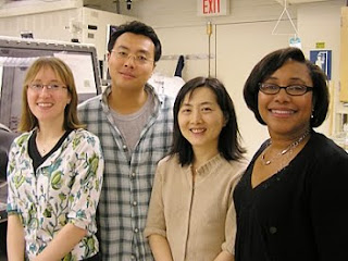 students Betar Gallant and Seung Woo Lee and professors Yang Shao-Horn and Paula Hammond
