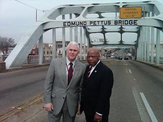 Mike Pence and Congressman John Lewis