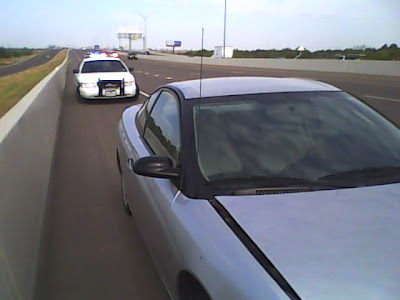 Police car on highway