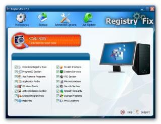 شناسایی و بهینه سازی مشکلات رجیستری با RegistryFix 7.1  WwW.FuN2Net.MiHaNbLoG.CoM