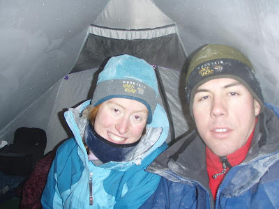 In the tent. What you can't see is Jack and Jasper