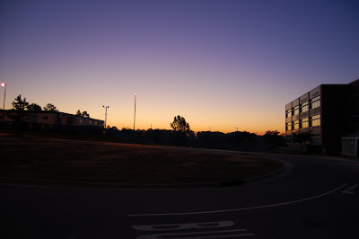 Photo taken at 6:21 am before sunrise over the NC State campus