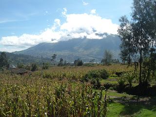 Countryside near Otavalo, Ecuador.