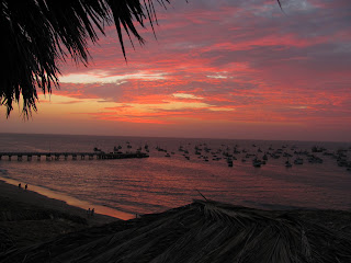A typical sunset in Mancora