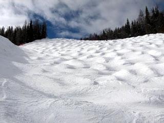 Photo of a mogul field by random_matt. Photo available via a Creative Commons license. Original at http://www.flickr.com/photos/random_matt/2905034454/