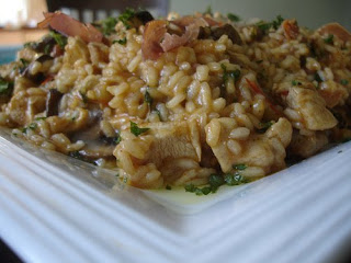 Chicken, Proscuitto and Mushroom Risotto