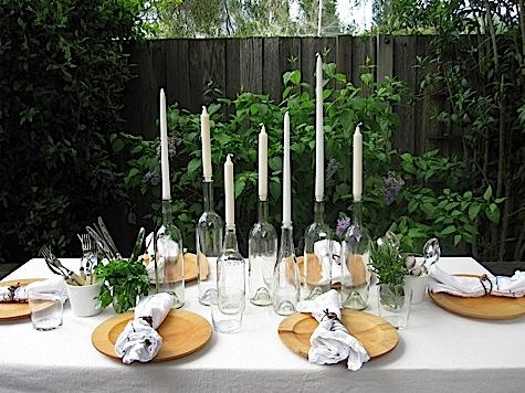 summer entertaining: diy simple summer table setting - at home