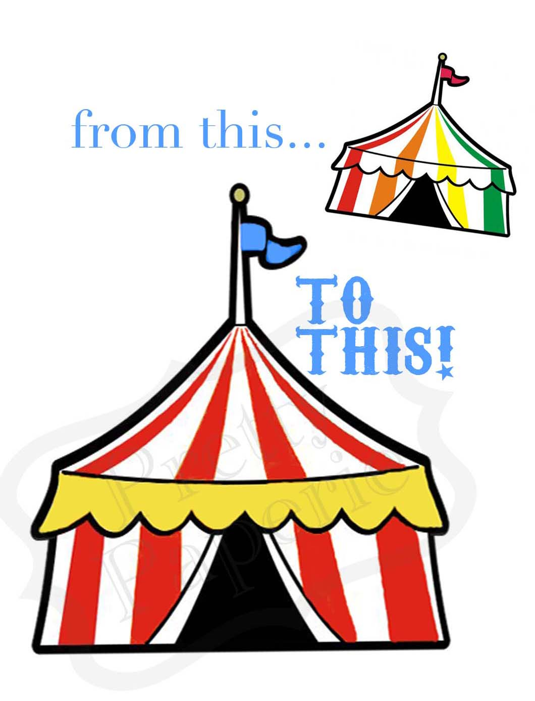 recent client circus theme party printables