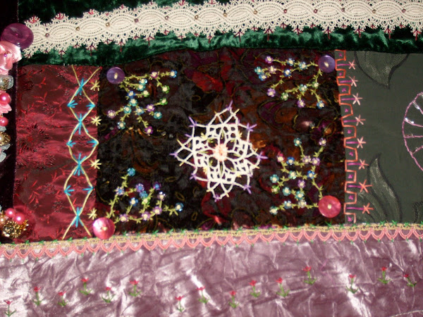 MY VERY FIRST CRAZY QUILT BLOCK