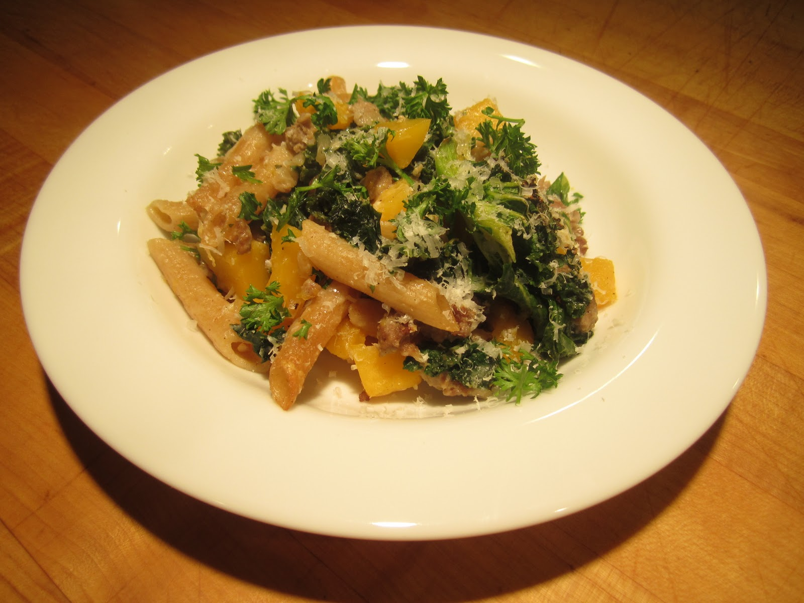 Butternut Squash, Sausage and Kale Baked Pasta Recipe - The Lemon Bowl