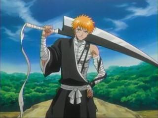 bleach zanpakutou zangetsu kurosaki ichigo sword replica cleaver shikai awaken