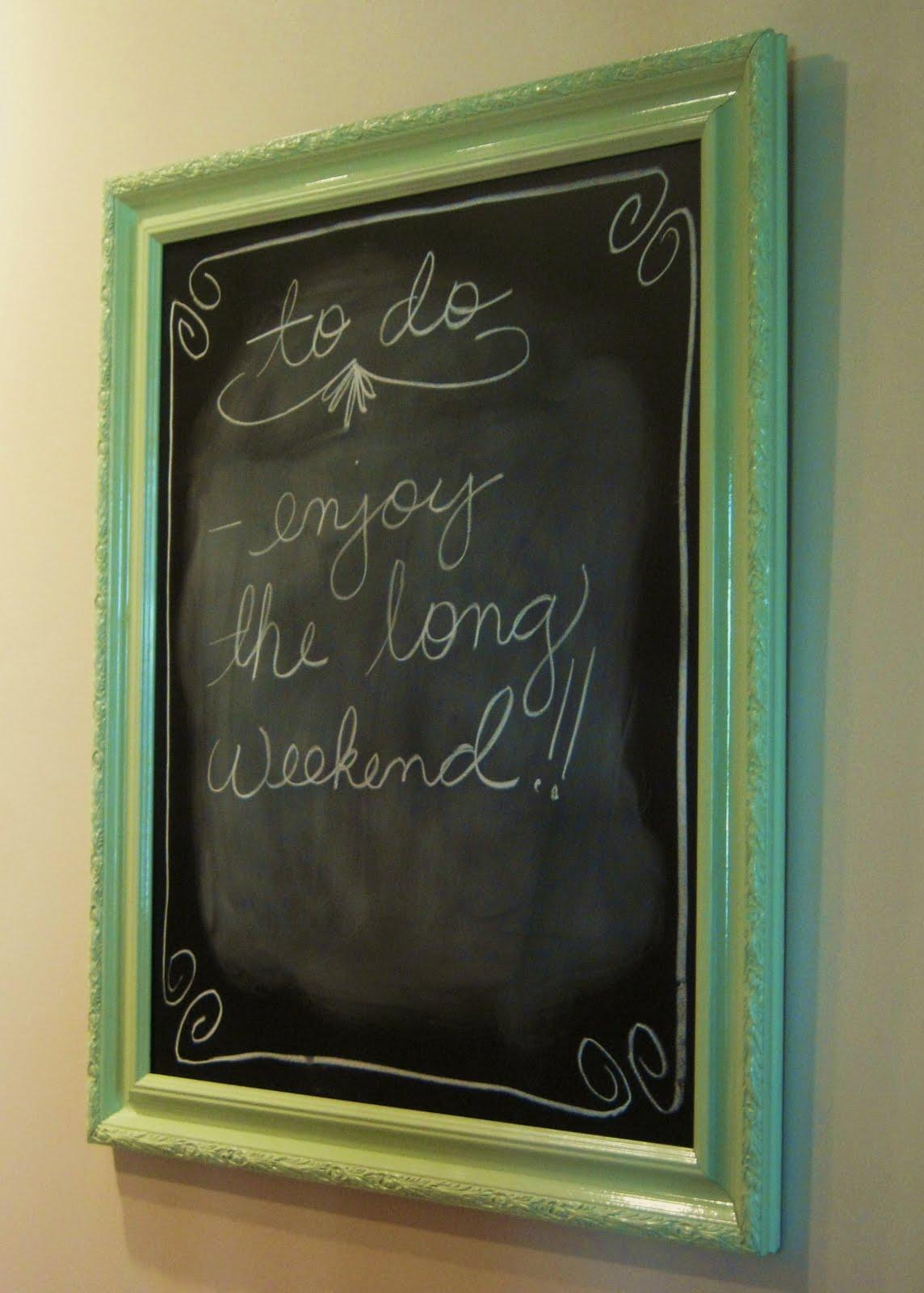 Dwelling & Telling: DIY: Framed Chalkboard