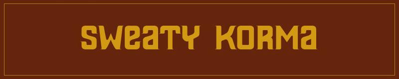 Sweaty Korma