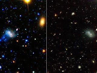 estrellas y galaxias en ultravioleta