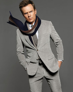 Joel McHale in a suit at Indie Fashion Addict