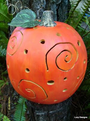 power tool carved pumpkin